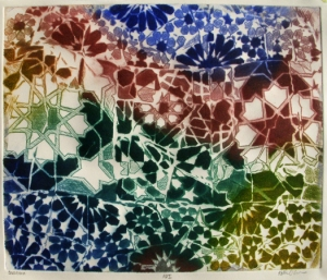 Barcelona ©2012 Katie O'Connor, color intaglio print
