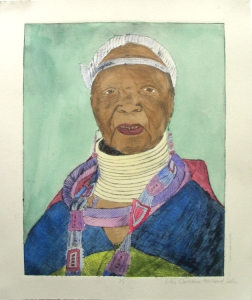 ©2009 Lily Sehn, Hand-colored intaglio print